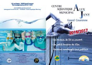Plaquette Cente Aquatique 2016 2017